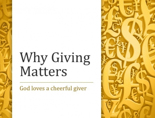 Why Giving Matters