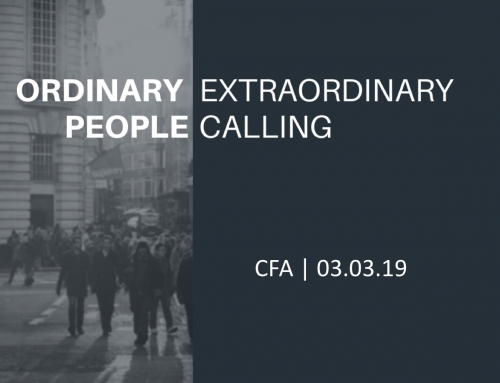 Ordinary People, Extraordinary Calling