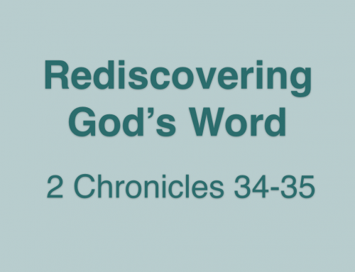 Rediscovering God's Word- Pastor Tom Ragsdell