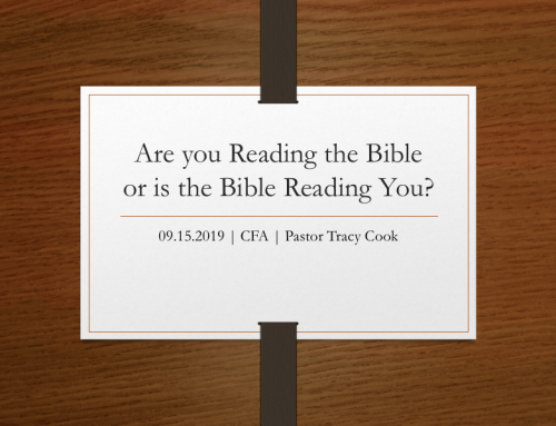 Are You Reading the Bible or Is the Bible Reading You?