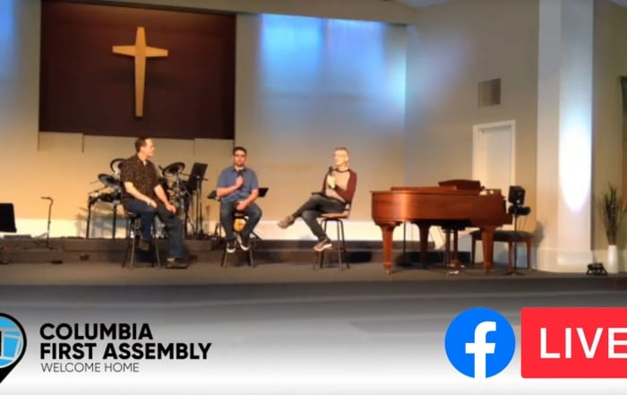 First Facebook Live Stream bc of COVID-19 Virus with Pastor Tracy Cook and Joseph Lanham and Tom Ragsdale Columbia First Assembly of God Church in Columbia Missouri