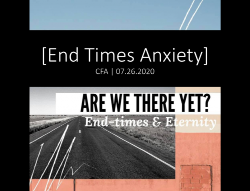 Are We There Yet?: End-Times Anxiety