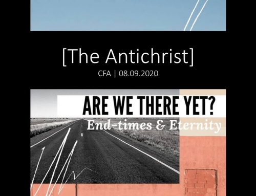 Are We There Yet?: The Antichrist