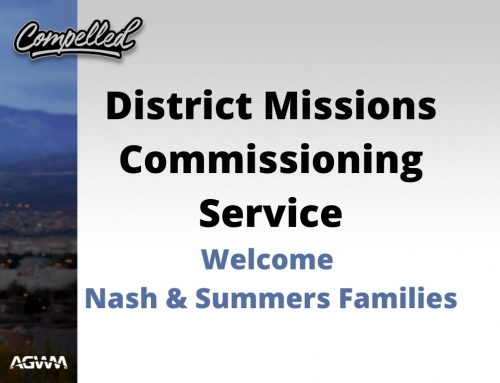 District Missions Commissioning Service
