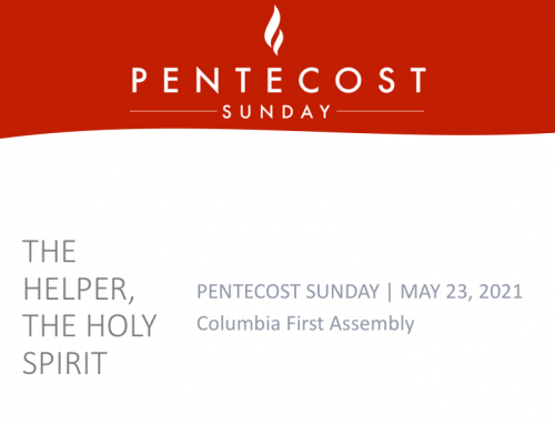 The Helper, The Holy Spirit – Pastor Tracy Cook