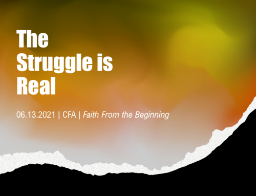 The Struggle is Real – Pastor Tracy Cook