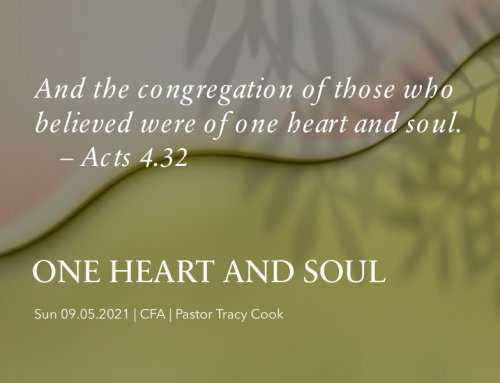 One Heart & Soul – Pastor Tracy Cook