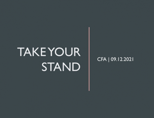 Take Your Stand – Pastor Tracy Cook
