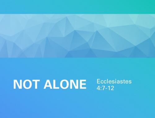 Not Alone – Pastor Joseph Lanham